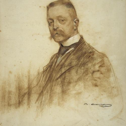 Ramon Casas - Retrato de Émile Bertaux - Hacia 1904-1905 [?]