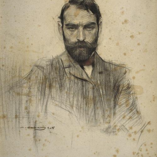 Ramon Casas - Portrait of Gustave Violet - 1905