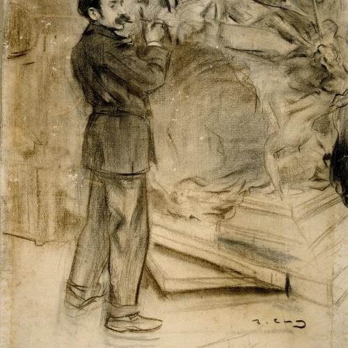 Ramon Casas - Portrait of Mariano Benlliure - Circa 1900