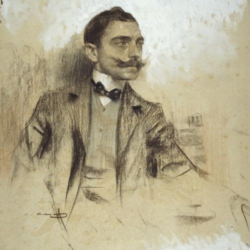 Ramon Casas - Retrato de Manuel Benedito - 1904