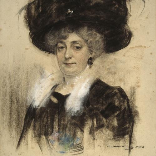 Ramon Casas - Retrat de Pepita Teixidor - 1910