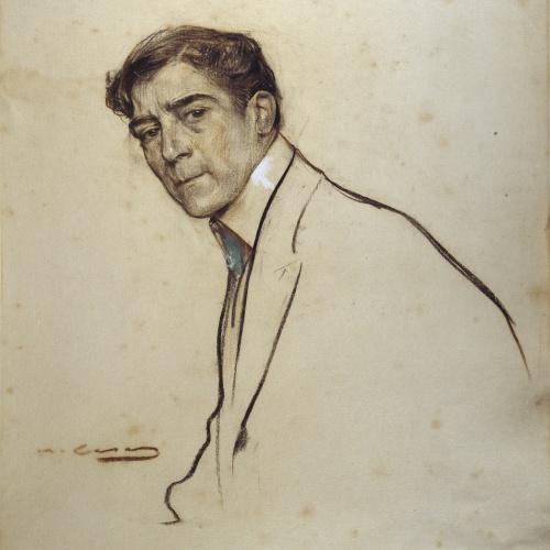 Ramon Casas - Retrato de Alexandre de Riquer - Hacia 1903-1906