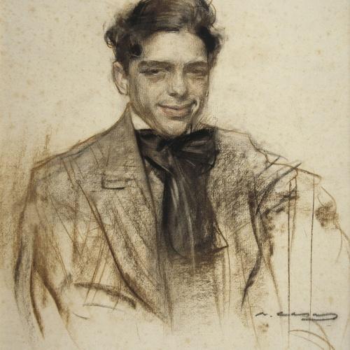 Ramon Casas - Retrato de Lluís Bagaria - Hacia 1903-1906