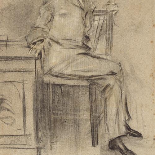 Ramon Casas - Portrait of Modesto Sánchez Ortiz - Circa 1897-1899