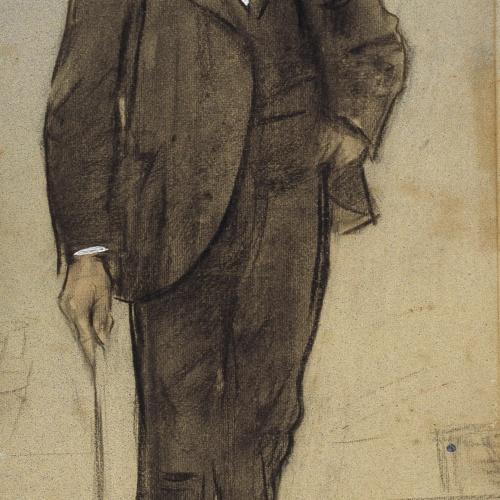 Ramon Casas - Retrato de Joan Francesc Chia - Hacia 1897-1899