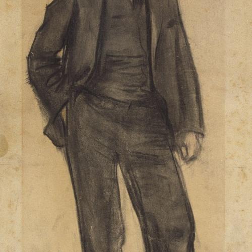 Ramon Casas - Retrato de Maurici Vilomara - Hacia 1897-1899