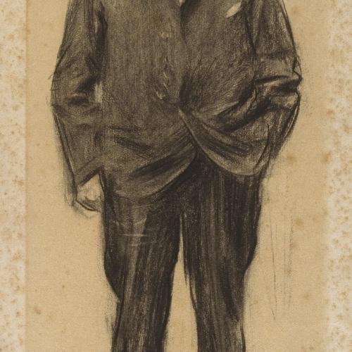 Ramon Casas - Retrato de Jean-Antoine Injalbert - Hacia 1900