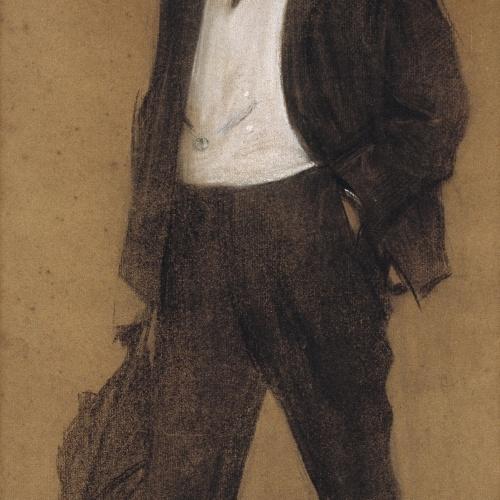 Ramon Casas - Retrato de Joan Baptista Parés - Hacia 1897-1899