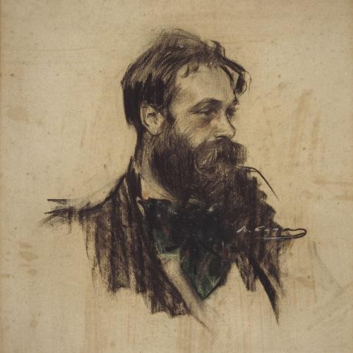 Ramon Casas - Retrato de Joaquim Mir - Hacia 1901