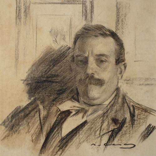 Ramon Casas - Retrato de Raimon Casellas - Hacia 1901