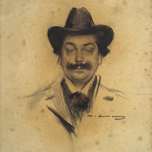 Ramon Casas - Portrait of Manuel Feliu de Lemus - Circa 1902-1903