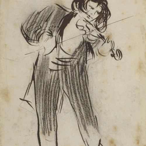 Ramon Casas - The violinist Eugène Ysaÿe - 1896