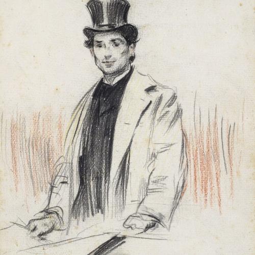 Ramon Casas - Retrato de Pompeu Fabra - Anterior a 1899