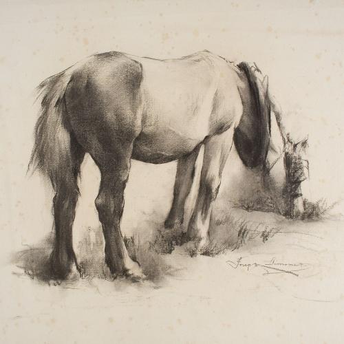 Josep Llimona - Cavall - Cap a 1900