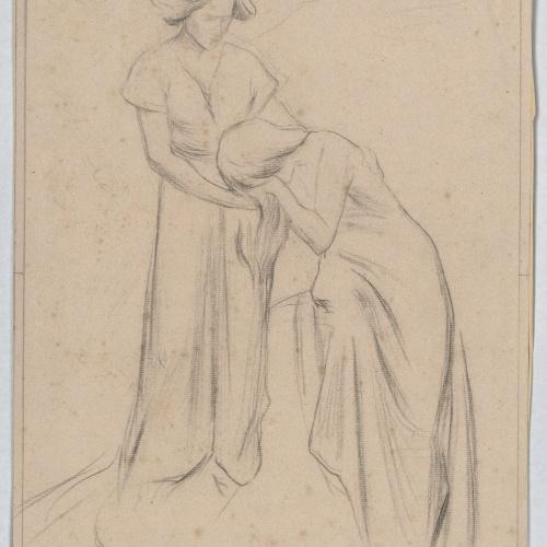 Josep Llimona - Estudi per a l'escultura funerària «La fe consolant el dolor» (panteó Maristany, el Masnou) - Cap a 1901