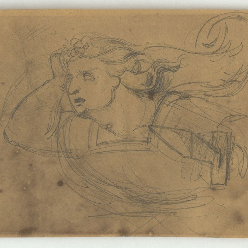 Marià Fortuny - Study for a figure with a spear - Circa 1856-1858