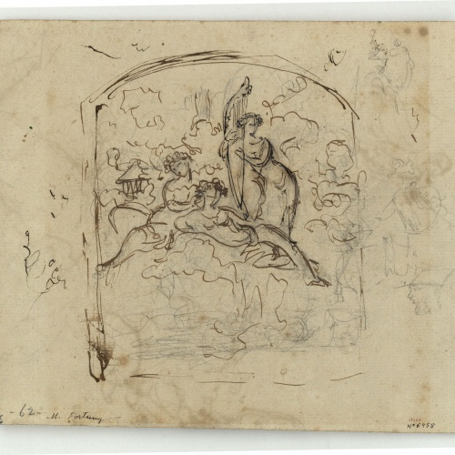 Marià Fortuny - Study for a composition - Circa 1856-1858