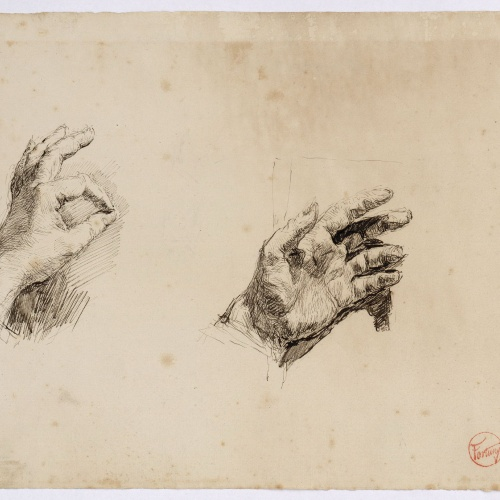Marià Fortuny - Studies of the artist's left hand - Circa 1873