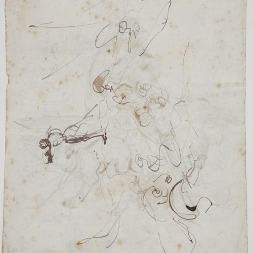 Marià Fortuny - Rough sketch of a figure - Circa 1856-1858