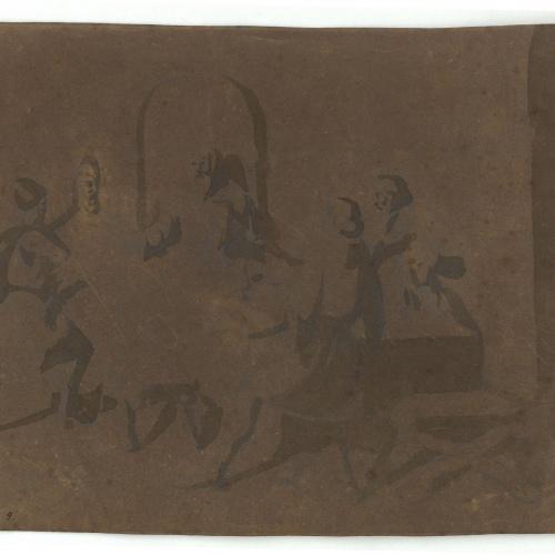 Marià Fortuny - Estudi de composició - Cap a 1856-1858