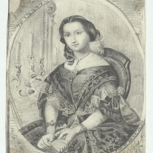 Marià Fortuny - Retrat de dama - 1859