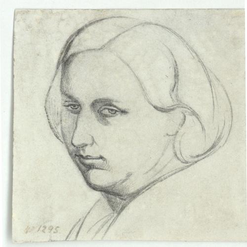 Marià Fortuny - Bust femení - Cap a 1856-1858