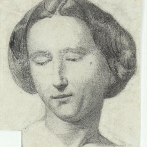 Marià Fortuny - Cap de dona - Cap a 1856-1858