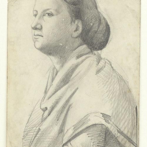 Marià Fortuny - Bust de dona - Cap a 1857-1858