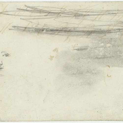 Marià Fortuny - Bust femení (anvers) / Esbós de cara (revers) - Cap a 1856-1858 [1]