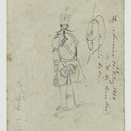 Marià Fortuny - Caricature of a soldier - Circa 1856-1858