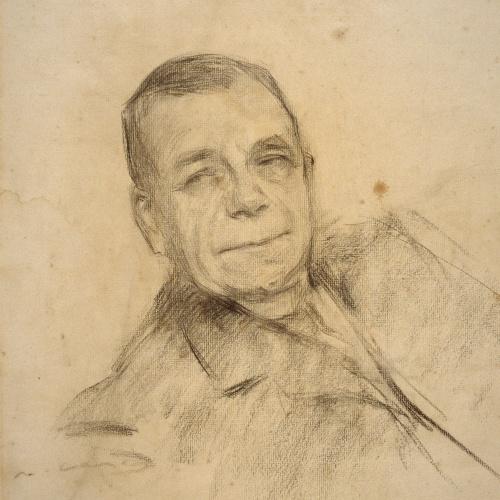 Ramon Casas - Retrato de Benoît-Constant Coquelin - 1903