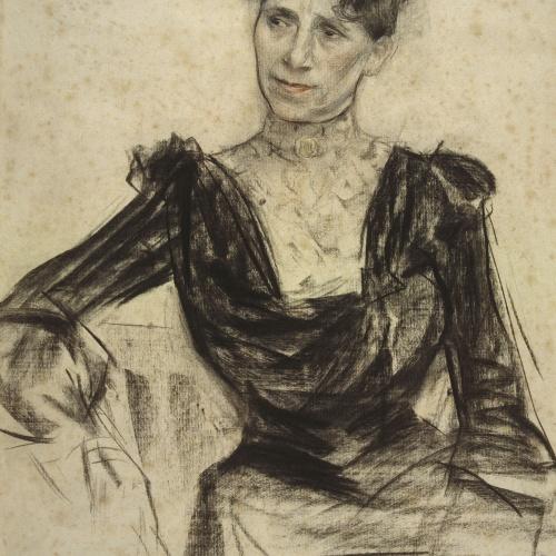 Ramon Casas - Retrat de Pauleta Pàmies - Cap a 1905-1908