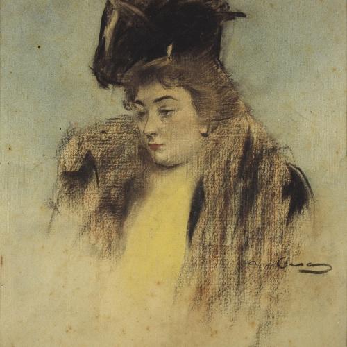 Ramon Casas - Portrait of Teresa Mariani - Circa 1900