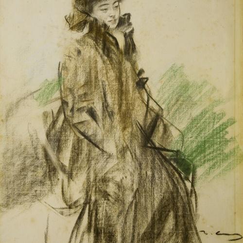 Ramon Casas - Portrait of Sada Yacco - 1902