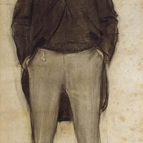 Ramon Casas - Portrait of Ramon Domènec Perés - Circa 1900