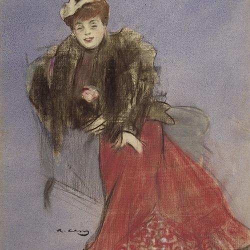 Ramon Casas - Retrat de Gabrielle Réjane - 1899