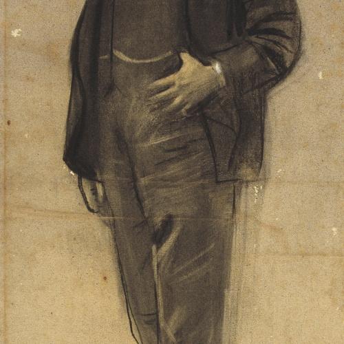 Ramon Casas - Retrato de Josep Coll i Britapaja - Hacia 1897-1899
