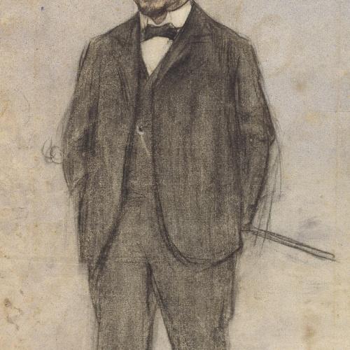 Ramon Casas - Portrait of Manuel Font - Circa 1897-1899