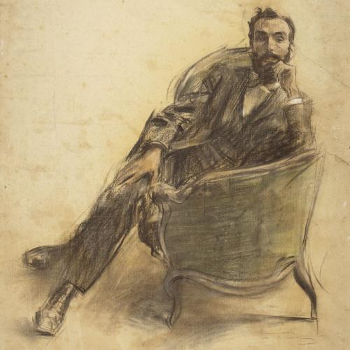 Ramon Casas - Retrato de Jaume Brossa - Hacia 1897-1899