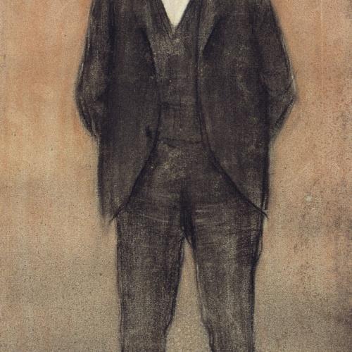Ramon Casas - Portrait of Enric Prat de la Riba - Circa 1897-1899
