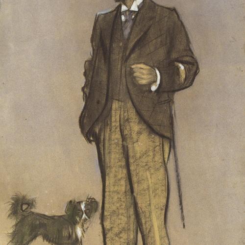 Ramon Casas - Retrato de Lluís Figuerola - Hacia 1897-1898