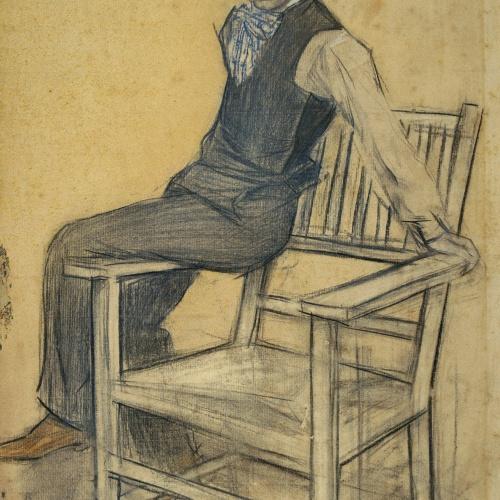 Ramon Casas - Retrato de Eduard Marquina - Hacia 1897-1899