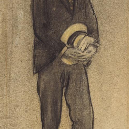 Ramon Casas - Retrato de Josep M. Pascual - Hacia 1897-1899
