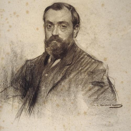 Ramon Casas - Portrait of Josep Pous i Pagès - Circa 1905-1907