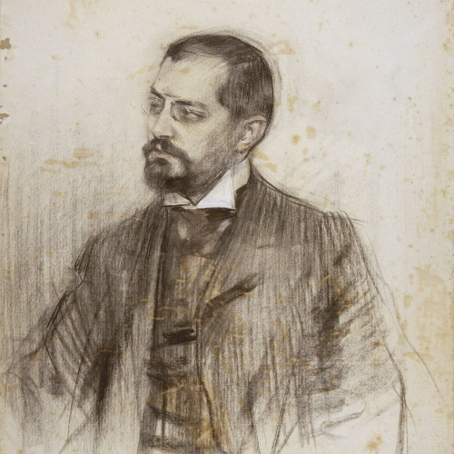 Ramon Casas - Portrait of Josep Puig i Cadafalch - Circa 1906