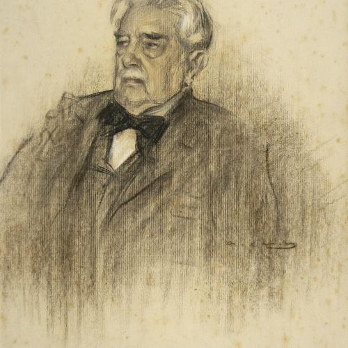 Ramon Casas - Retrato de Juan Valera - 1904
