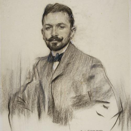 Ramon Casas - Retrato de Serafín Álvarez Quintero - 1904
