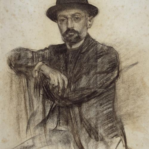 Ramon Casas - Retrato de Miguel de Unamuno - Hacia 1904-1905