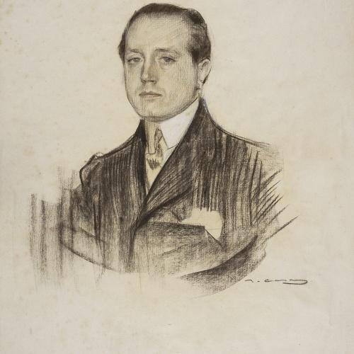 Ramon Casas - Retrato de José Martínez Ruíz, «Azorín» - Hacia 1904-1905