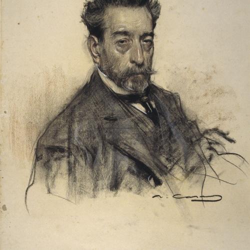 Ramon Casas - Portrait of Josep M. Vallés - Circa 1906